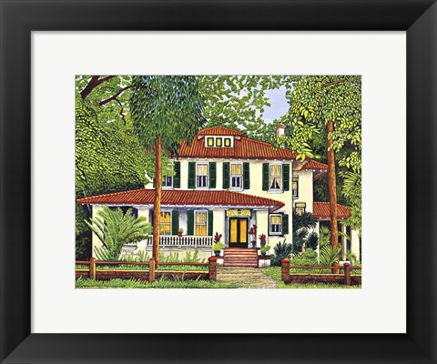 Framed Tile Roof, Georga Print