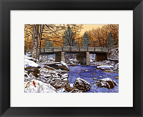 Framed Bridge Over Glade Creek - West Virginia Print
