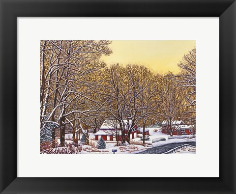 Framed Boston Hill Road Print
