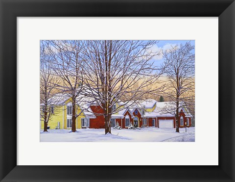 Framed Winter Haven Print