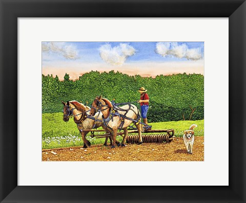 Framed Working The Land Print