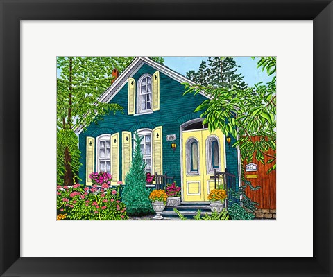 Framed Buffalo Garden Walk I Print