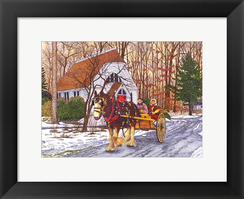 Framed Chautauqua - Rooster's Ride Print