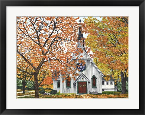 Framed Country Church, Western NY Print
