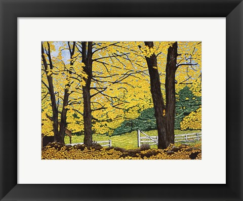 Framed Golden Day, New Hampshire Print