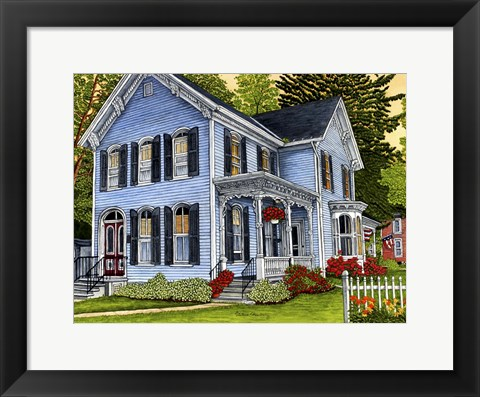 Framed Hometown On A Summer Day, East Aurora Ny Print