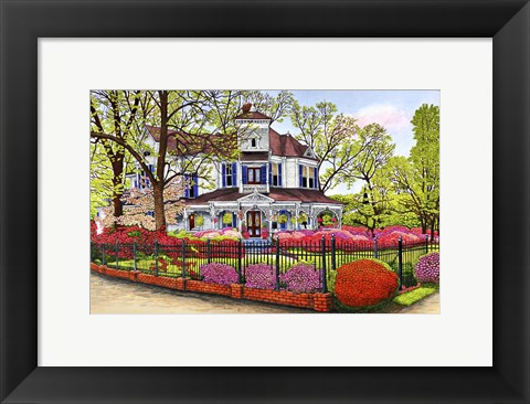 Framed Hunter House, Madison Ga Print