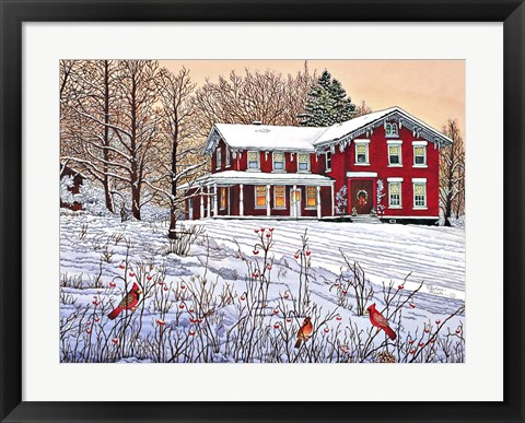 Framed King's Cardinals, Eden Ny Print