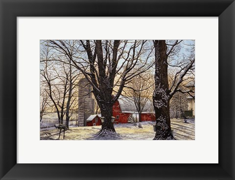 Framed Maple Syrup Time, Collins Center Ny Print