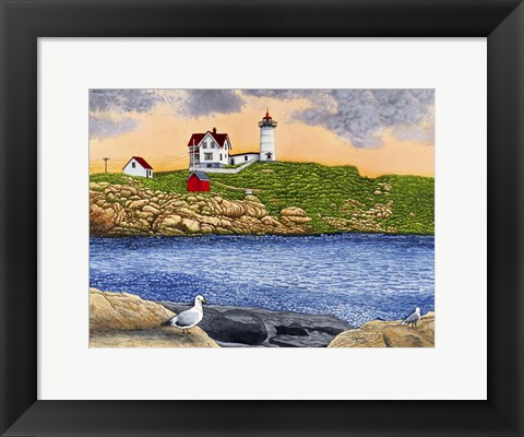 Framed Nubble Light II C2005 Print