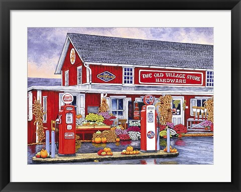 Framed Old Village Store Hardware, Bird-In-Hand Pa Print