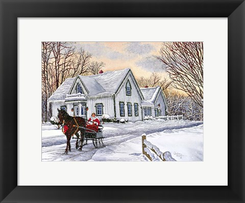 Framed Red Ribbon Horse, Eden Ny Print