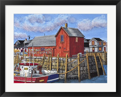 Framed Rockport Motif I, Maine Print