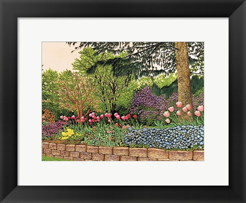 Framed Tulips And Lilacs Print