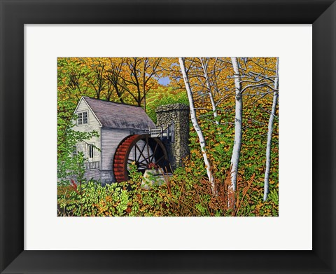 Framed Waterwheel, E Dorset Vt Print