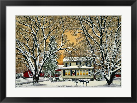 Framed Christmas In The Country Print