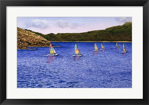 Framed Hobie Cats Print