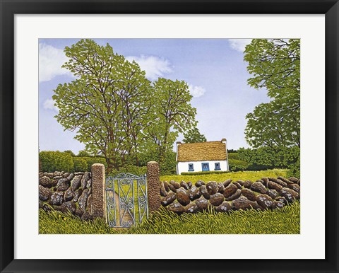 Framed Irish Cottage Print