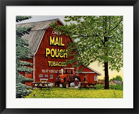 Framed Mail Pouch Barn 2 Print