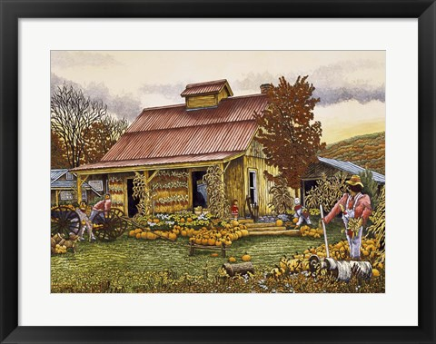 Framed Pumpkin Shed Print