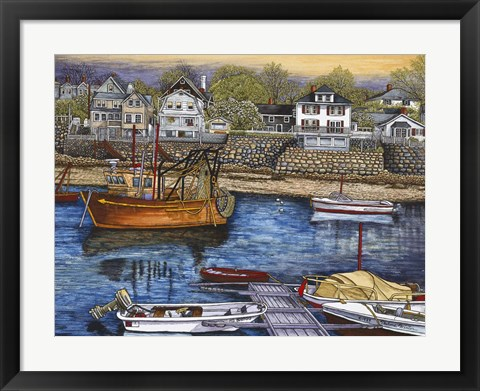 Framed Rockport Harbor Print