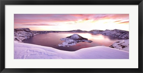 Framed Crater Lake Print