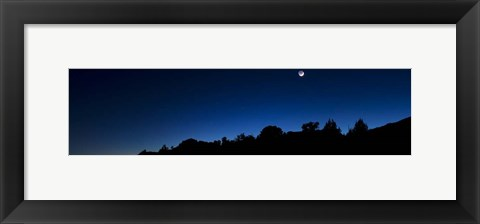 Framed Crescent Moon Zion Print