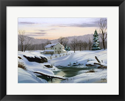 Framed Winter Landscape 2 Print