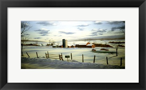Framed Winter Landscape 9 Print