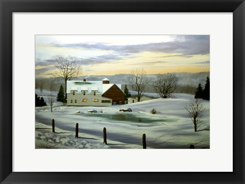 Framed Winter Landscape 11 Print