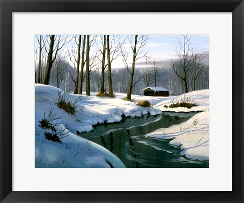 Framed Winter Landscape 12 Print
