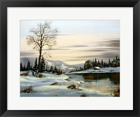 Framed Winter Landscape 25 Print