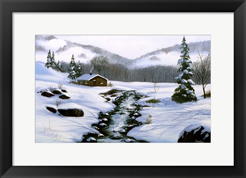 Framed Winter Landscape 32 Print