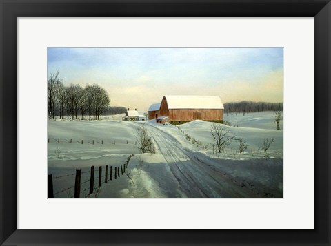 Framed Winter Landscape 33 Print