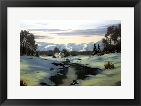 Framed Winter Landscape 34 Print