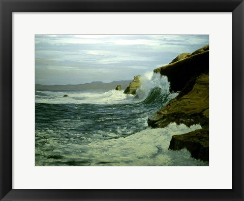 Framed Rough Waters Print