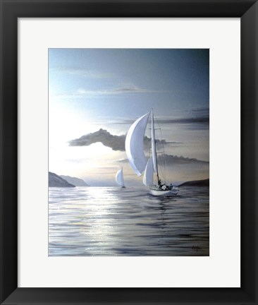 Framed White Sails Print