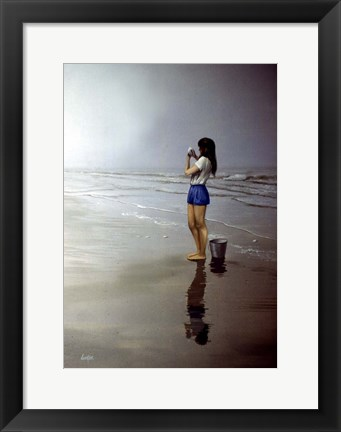 Framed Day on the Beach 4 Print