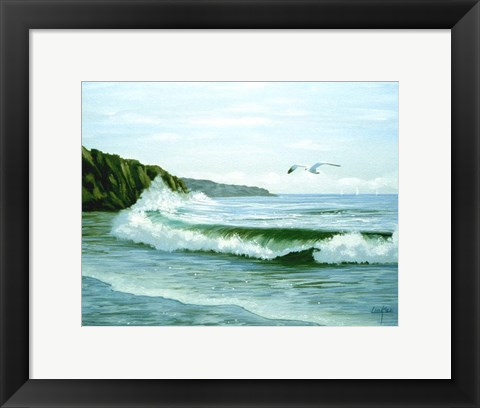 Framed Soaring over the Waves Print