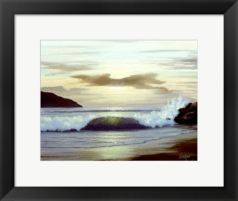 Framed Waves 2 Print