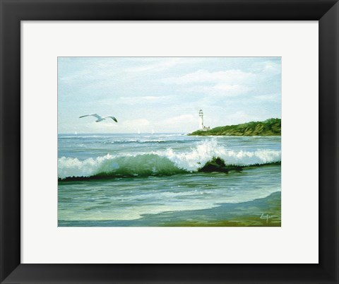 Framed Waves 3 Print