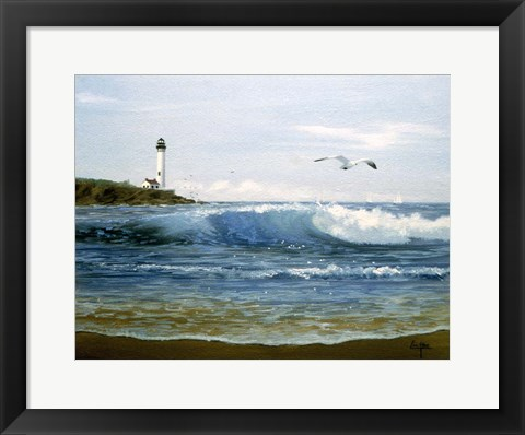 Framed Waves 5 Print