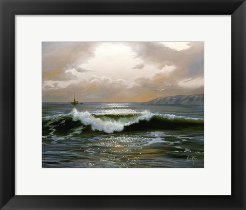 Framed Waves 8 Print