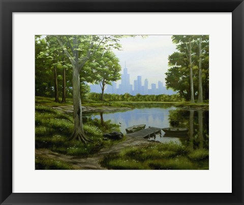 Framed City View Print