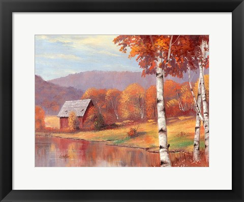 Framed Autumn Fire Print