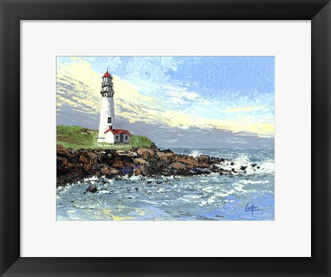Framed Blue Point Light Print