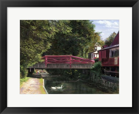 Framed Machanic Street Bridge Print