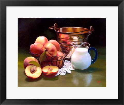 Framed Peaches & Cream Print