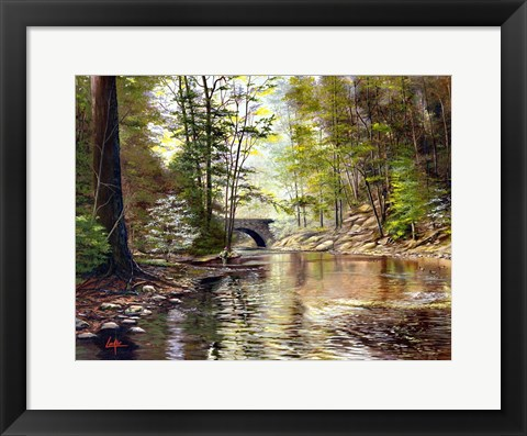 Framed Stone Bridge Print