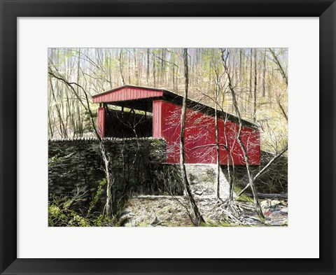 Framed Thomas Mill Bridge Print